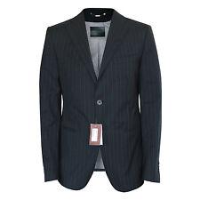 BALLY $1080 pinstriped navy sportcoat virgin wool cotton blazer jacket 40/50 NEW