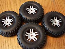 4 Traxxas 5907 3.3 Slayer Pro SPEC Tires 14mm Black Chrome Split Spoke Wheels