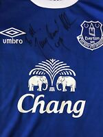 TONY BOMBER BELLEW HAND SIGNED EVERTON HOME SHIRT 2016/17.