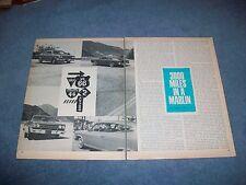 """1965 AMC Rambler Marlin Vintage Article """"3000Miles in a Marlin"""""""