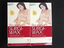 SURGI WAX HAIR REMOVER STRIPS + After Wax Balm  BIKINI  BODY  LEGS  Lot of 2