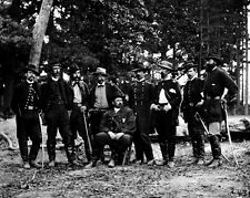 "New 8x10 Civil War Photo: Union - Federal General William ""Baldy"" Smith & Staff"