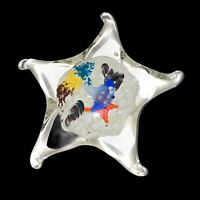 "Vintage Star Aquarium Italian Hand Made Art Glass Fish Aquarium Paperweight 5""W"