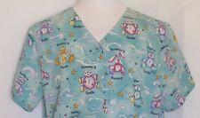 Nurse Scrub Lab Coat Plus Size 2Xl Simply Basic Animals Dog Turtle Teddy Bunny