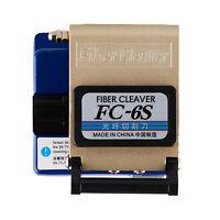 New FC-6S Precision Cleaver Optical Fiber Electric Cut Cutting Tools
