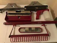 Vintage Kirby Classic III 3 Red Vacuum Attachments Parts Accessories