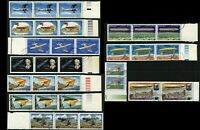 Romana Zeppelin Delta Plane Airmail Stamps Postage Collection Romania Topical