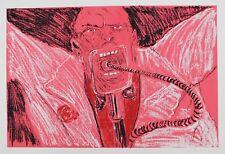 Lithografie Dees de Bruyne - Homme Rouge