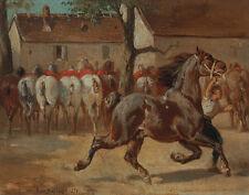 Bonheur Rosa Trotting Horse Print 11 x 14  #3148