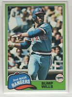 1981 Topps Baseball Texas Rangers Team Set