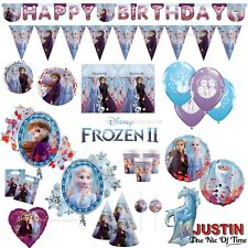 FROZEN 2 Princess Birthday Party Tableware Decorations Girls Kits