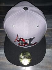 New Era MILB Hickory Crawdads Gray Minor League Baseball Hat Fitted NWT 7 3/8