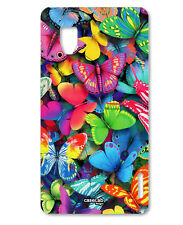 CUSTODIA COVER CASE FARFALLE COLORATE color PER CELLULARE  LG OPTIMUS G E975