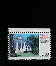 1986 22c Arkansas Statehood, Old State House Little Rock Scott 2167 Mint F/VF NH