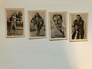 """lot of """"hollywood  MOVIE  STARS / actors1930s ROSS VERLAG  collector card(4)"""