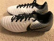 New Nike Tiempo Legend Elite FG Junior Youth Size 5Y Soccer Cleats White Black