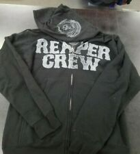 SONS OF ANARCHY REAPER CREW TRIPLE PRINT ZIP UP HOODIE NEW !