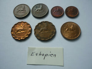 7 x Ethopien, Äthiopien: Wert und Jahrgang siehe Fotos
