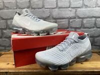 NIKE LADIES VAPORMAX 3 PURE PLATINUM FLYKNIT TRAINERS RRP £170 T