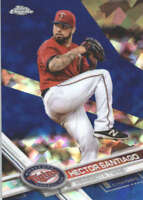 HECTOR SANTIAGO 2017 TOPPS CHROME SAPPHIRE EDITION #336 ONLY 250 MADE