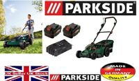 Parkside 40V Cordless Lawnmower PRMA 40-Li A1+ 2x 4Ah Batteries & Dual Charger