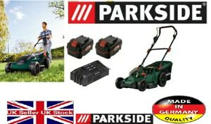 Parkside 40V Cordless Lawnmower PRMA 40-Li A1+ 2x 4Ah Batteries & Dual Charger