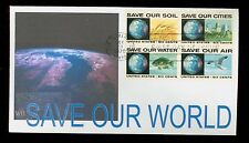 #1410-13 6c Save Our World Block FDC WII Color Laser Cachet  UA FD2649