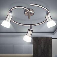 WOFI Vetro 3 Lamp Ceiling Light White Glass Shade Brushed Nickel Finish