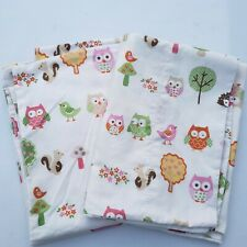 CIRCO Love N' Nature Owls Mushrooms Birds Trees Pillow Cases Pair Set of 2
