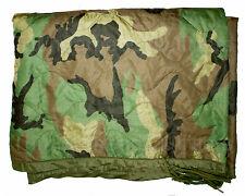 US Army WOODLAND Wet Weather PONCHO LINER Woobie Blanket US NEW