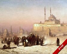 FROM OLD & NEW CAIRO EGYPT MOSQUE OF MOHAMMED ALI PAINTING ART REAL CANVAS PRINT