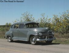 "Postcard-""A Classic Automobile On The Road In Kansas"""