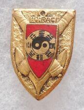 Insigne boutonnière à vis 10° RAC Indochine Régiment Artillerie Coloniale Drago