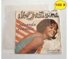 Buste Trasparenti  per VINILE 45 GIRI Deluxe PE my 100 - Qtà 100 Buste