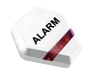 Dummy Burglar Alarm Box - Solar Powered Dummy Alarm Siren Flashing LED Lights