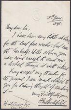 1898 House of Commons Embossed Letterhead to R.Stevenson,Tunbridge Wells,Kent