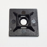 Cable Tie Eyelets BLACK Screw-On Wall Mount Wire//Pipe Management Saddle//Cradle