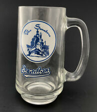 Vintage Washington Senators Glass Mug Nationals MLB Ted Williams