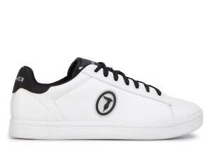 Scarpe uomo Trussardi Jeans 77A00274 sneaker casual sportive basse pelle bianche