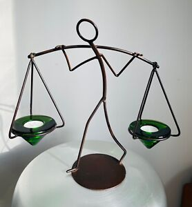 Aquarius/Watercarrier tea light stand