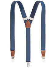 $70 Club Room Men'S Navy Blue Stretch Braces Clip-End Adjustable Suspenders