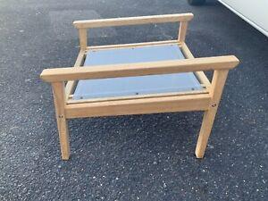 Alexander rose hardwood top quality indoor outdoor footstool