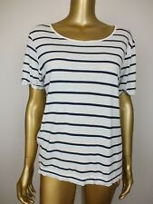 SEED HERITAGE TOP STRIPED T SHIRT BLOUSE TUNIC TOP - M