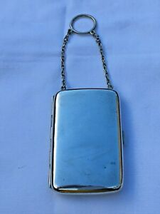 SOLID STERLING SILVER LADIES CHATELAINE CIGARETTE CASE