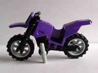 Lego Town/ City Dark Purple Dirt Bike With Grey Wheels New