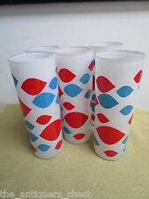 Vintage Original 1960s Dairy Queen Glasses - Set of 5, Frosted GLASS Tumblers[fr