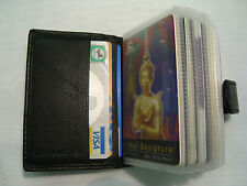 Vera Pelle Morbida Porta Carte di Credito Nero per 14 carte di credito