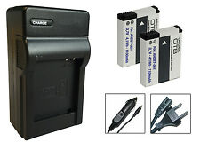 2 x Akku + Ladegerät für GoPro HERO, HD HERO2 - ABPAK-001, AHDBT-001, AHDBT-002