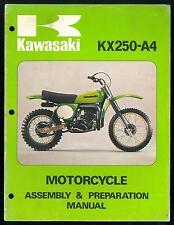 Manual KAWASAKI KX 250 A4 Assembly & Préparation ( 1977-78 ) Manuel de Montage
