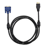 1.8m 6FT HDMI Gold Male to SVGA VGA HD-15pin Video Covertor Adapter 1080p HDTV